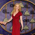 Nicole Kidman arbore un ventre à peine alors qu'elle est à trois mois d'accoucher. Nashville (Tennessee), le 14 avril 2008.
