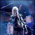 Taylor Momsen chante à Madrid, le 7 juillet 2011.