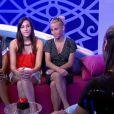 Ayem, Morgane et Sabrina dans le confessionnal face à Rudy dans la quotidienne de Secret Story 5 le mardi 12 juillet 2011 sur TF1