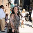 Roseanne Barr est l'invitée du Late Show de David Letterman, enregistré au Ed Sullivan Theater de New York, mercredi 13 juillet 2011.