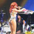 Rihanna en concert à Greensboro le 16 juillet 2011