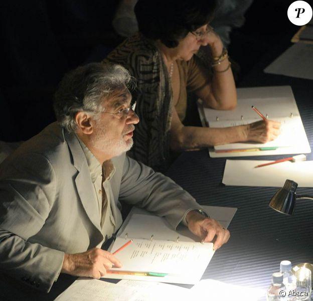 Placido Domingo en pleine forme à Moscou le 18 juillet 2011, pour le lancement d'Operalia 2011, qui se déroule dans la capitale russe jusqu'au 24 juillet.