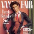 Demi Moore, un costume masculin peint sur le corps, pour une couverture réussie.  Vanity Fair  d'août 1992.