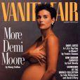 La couverture de magazine qui l'a rendue célèbre. Pour la première fois, une femme enceinte posait nue dans la presse.  Vanity Fair  d'août 1991.