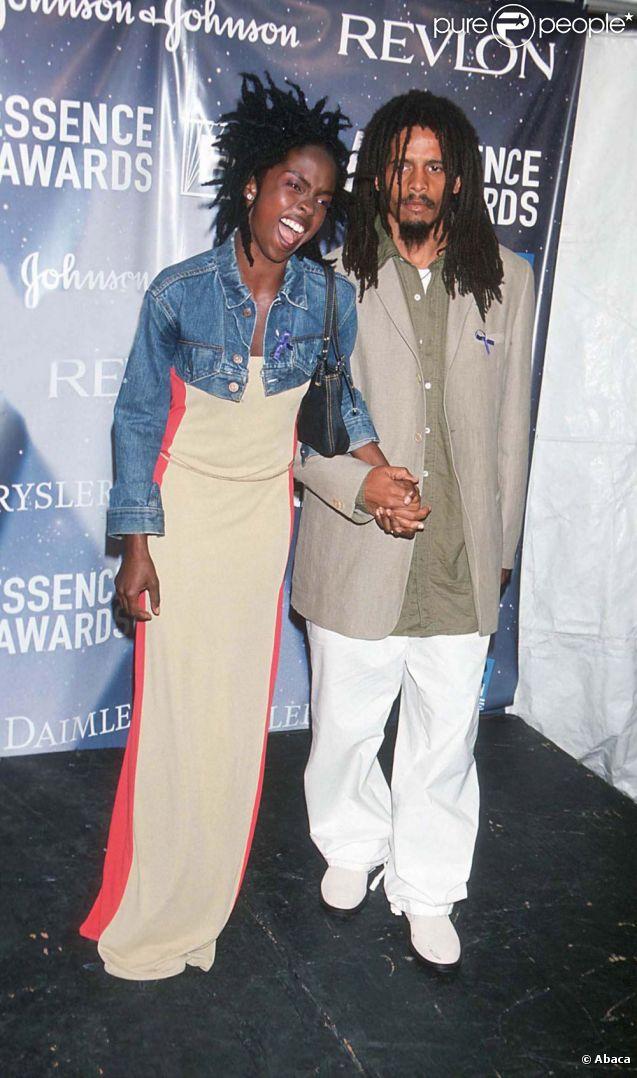 Lauryn Hill et Rohan Marley en mai 1999.