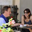 David et Samantha Cameron profitent de quelques jours de vacances en Italie, le 31 juillet 2011.