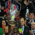 Eric Abidal lors de la finale de la coupe de la Ligue opposant Barcelone à Manchester United, à Londres, le 28 mai 2011.