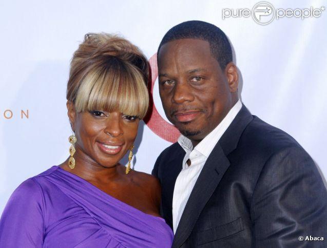 Mary J. Blige et son mari Kendu à la soirée Art For Life chez Russell Simmons dans les Hampton, le 30 juillet 2011