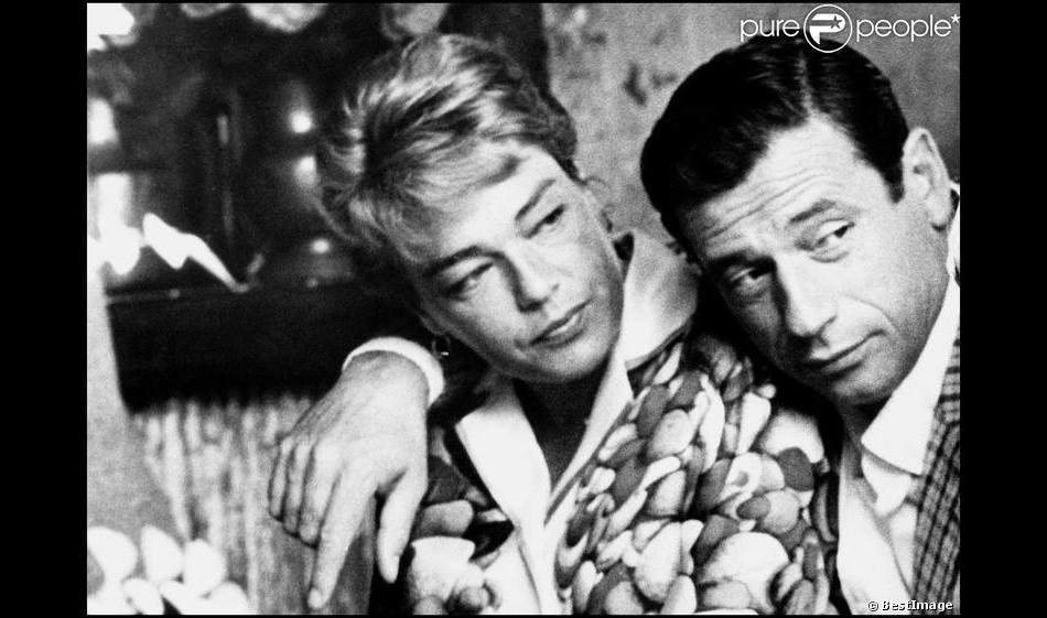 Simone Signoret et Yves Montand.