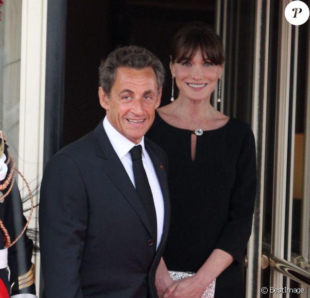 Nicolas Sarkozy et son épouse Carla Bruni en mai 011.