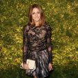 Toujours lookée, Olivia Palermo porte une jupe Topshop lors d'une vente aux enchères à New York. Le 29 mars 2011.