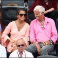 Jean-Paul Belmondo et Barbara Gandolfi à Roland-Garros, en juin 2011.