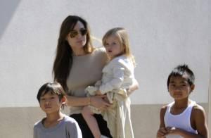 Angelina Jolie profite de l'Angleterre avec ses enfants malgré le danger