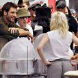 Javier Bardem, Woody Allen et Scarlett Johansson