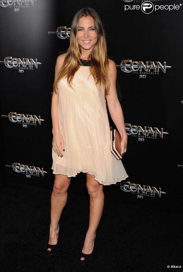 Elsa Pataky à l'avant-première mondiale de Conan à Los Angeles le 11 août 2011