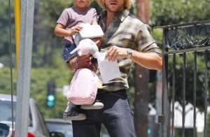 Gabriel Aubry : Pause câlin avec Nahla pendant que Halle Berry fait du shopping