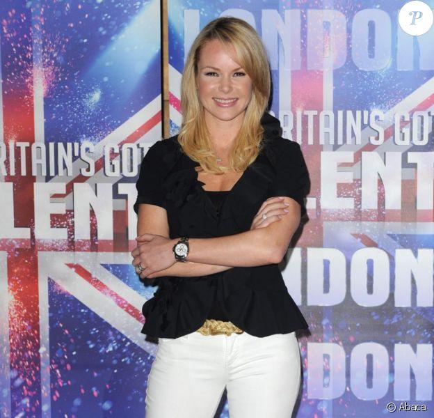 Amanda Holden lors de la promo du programme Britain's Got Talent en avril 2011