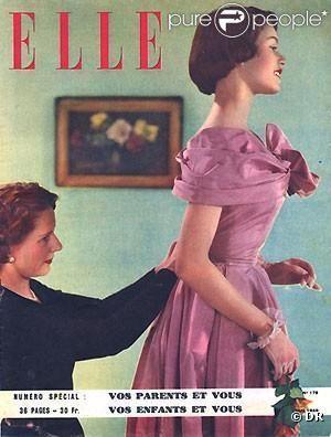 Voici la toute première couverture de Brigitte Bardot : à 14 ans, elle pose pour Elle. Mai 1949.