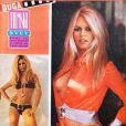 La sexy Brigitte Bardot ose la chemise très ouverte et le bikini en couverture de Filmski Svet. 18 janvier 1969.