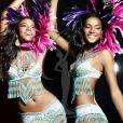 Leila Lopez, Miss Angola, pose en danseuse de samba pour le concours de Miss Univers (le 12 septembre)