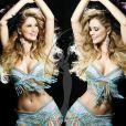 Sherri-lee Biggs, Miss Australie, pose en danseuse de samba pour le concours de Miss Univers (le 12 septembre)