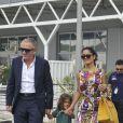 Salma Hayek, François Henri-Pinault et leur fille Valentina Paloma à Venise le 2 septembre 2011.
