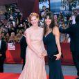 Jessica Chastain et Lucila Sola lors du festival de Venise le 4 septembre 2011, pour la présentation du film Wilde Salome