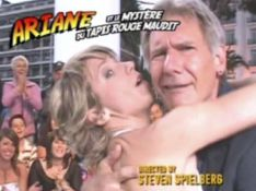 VIDEO : Ariane Massenet tente d'embrasser Harrison Ford en direct!