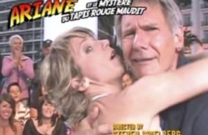 VIDEO : Ariane Massenet tente d'embrasser Harrison Ford en direct!