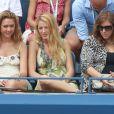 Blake Lively a assisté en compagnie de la créatrice de bijoux Lorraine Schwartz et une amie au quart de finale de Serena Williams lors de l'US Open 2011 le 5 septembre