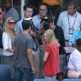 Amanda Seyfried était présente dans les travées de Flushing Meadows avec un brun ténébreux où elle a assisté au match opposant Jo-Wilfried Tsonga à Mardy Fish le 5 septembre 2011