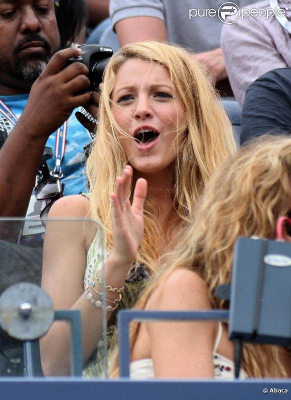 Blake Lively a assisté avec enthousiasme à la rencontre qui opposait Serena Williams et Ana Ivanovic le lundi 5 septembre en huitième de finale de l'US Open