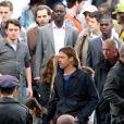 Brad Pitt sur le tournage du film World War Z en Ecosse en août 2011