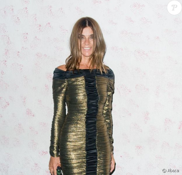 Carine Roitfeld, l'ancienne rédactrice en chef du Vogue français, à sa soirée organisée en partenariat avec les magasins Barney's, à New York, le 10 septembre 2011