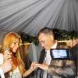 Mariage de Jean-Marie Bigard et Lola, au Café Barge, à Paris. Le 3 septembre 2011