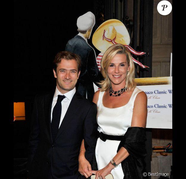 Laurence Ferrari, très amoureuse au bras de son mari Renaud Capuçon lors de la Nuit du Yachting à Monaco le 17 septembre 2011