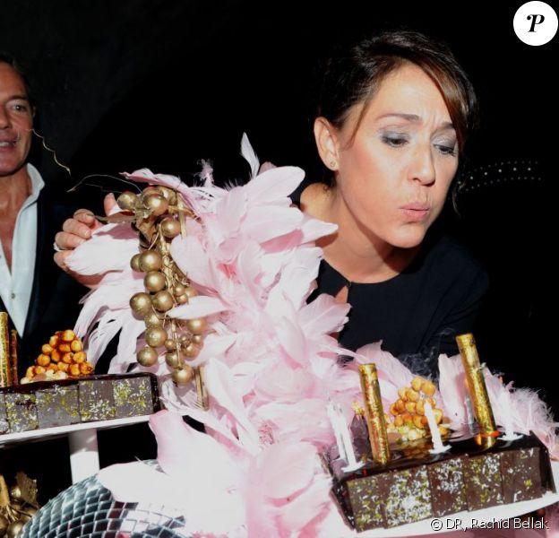 Daniela Lumbroso lors de son cinquantième anniversaire chez Castel, le 21 septembre 2011