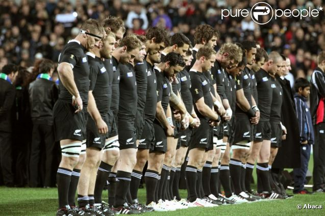 Les All Blacks, lors du match face au Japon, le 16 septembre 2011.