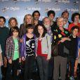 L'équipe du long métrage lors de l'avant-première du film Le Skylab à Paris le 27 septembre 2011