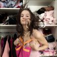 Le mannequin Jade Foret à l'âge de 13 ans dans sa maison en Belgique, le 17 mars 2004