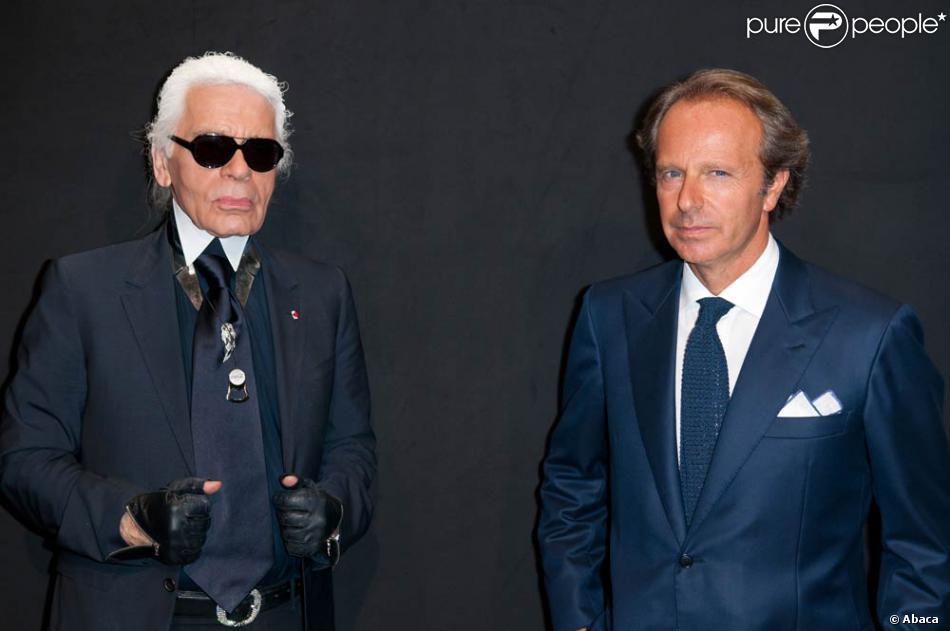 premium selection 17638 009f1 Karl et Diego Della Valle lors de la soirée Hogan by Karl ...