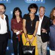 Denis Olivennes, Evelyne Bouix, Bernard et Zana Murat lors de l'avant-première du film Polisse dans les locaux d'Europe 1 à Paris le 3 octobre 2011