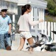 Justin Bieber et Selena Gomez sur la plage de Malibu fin septembre 2011