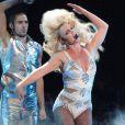 Britney Spears danse au Femme Fatale tour à Los Angeles le 20 septembre 2011
