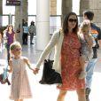 Jennifer Garner enceinte et ses deux filles Violet et Seraphina  se rendent à un musée avec une amie à Los Angeles le 9 octobre 2011
