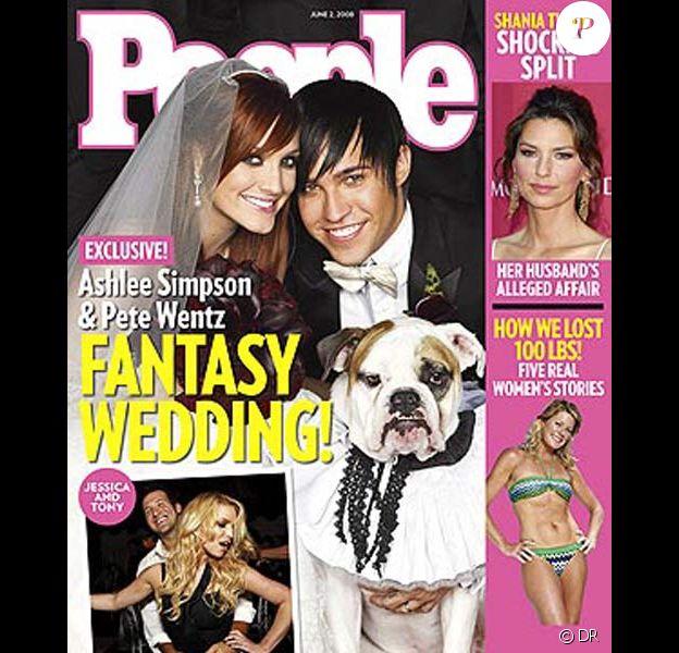 Ashlee Simpson et Pete Wentz en couverture de People Magazine