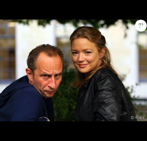 Benoit Poelvoorde et Virginie Efira à Lille le 19 octobre 2011 pour présenter Mon pire cauchemar.