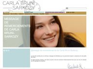 Carla Bruni, maman d'une petite Giulia : Son message de remerciements