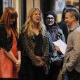 Sienna Miller sur le tournage de Nous York, le 18 octobre 2011.