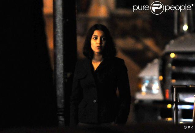 Leïla Bekhti sur le tournage de Nous York, à New York, en octobre 2011.